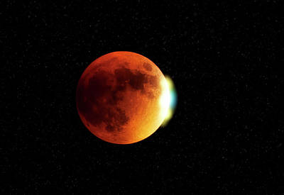 Blood Moon 2015 Art Print by Saija Lehtonen
