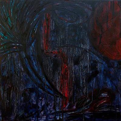 Painting - Blood Moon  by Fareeha Khawaja