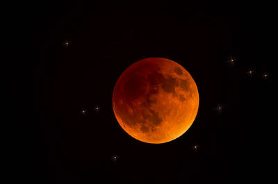 Blood Moon Lunar Eclipse 2015 Art Print by Saija  Lehtonen
