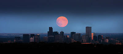 Blood Moon Over Denver Art Print