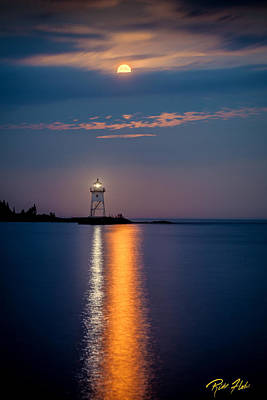 Photograph - Blood Moon Over Grand Marais by Rikk Flohr