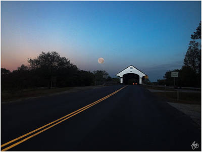 Photograph - Blood Moon Over Smith Bridge by Wayne King