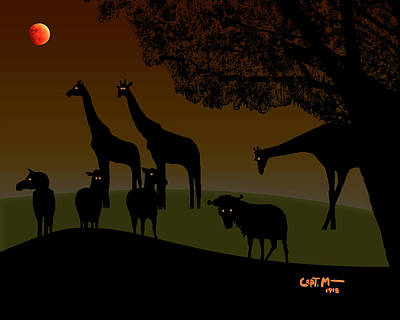 Photograph - Blood Moon Over The Veldt by Mickey Wright