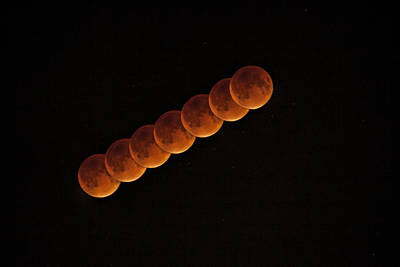 Eclipse Photograph - Blood Moon Passing by Andrew Soundarajan