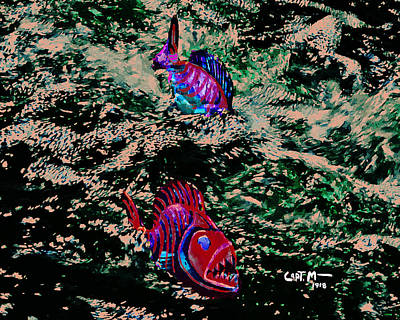 Photograph - Blood Moon Piranha by Mickey Wright