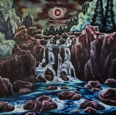 Painting - Blood Moon Rising by Cheryl Pettigrew