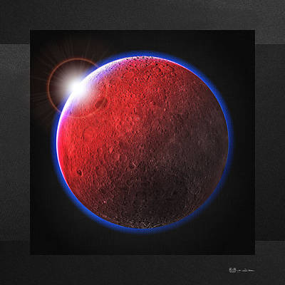 Digital Art - Blood Moon - The Dark Side Of The Moon by Serge Averbukh