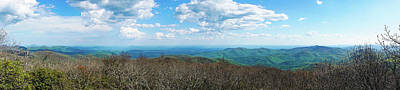 Photograph - Blood Mountain Georgia Panorama by Lawrence S Richardson Jr