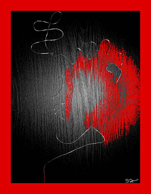 Dramatic Digital Art - Blood Of A Poet by Abstract Angel Artist Stephen K