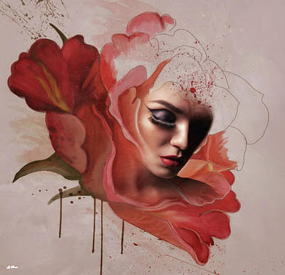 Erotica Mixed Media - Blood Of The Rose 009 by G Berry