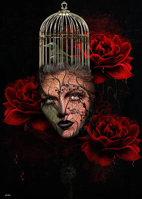 Blood Of The Rose Art Print by G Berry