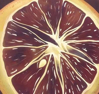 Fruit Painting - Blood Orange by Apryl Gaudet