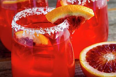Photograph - Blood Orange Margaritas On The Rocks by Teri Virbickis