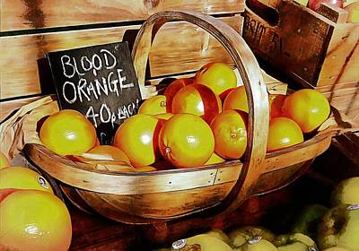 Photograph - Blood Oranges Sale Display by Dorothy Berry-Lound