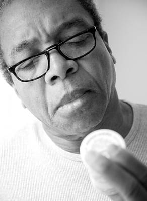 African American Diet Photograph - Blood Pressure Medication. by Oscar Williams