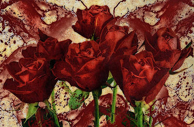 Blood Mixed Media - Blood Red Lust by Georgiana Romanovna