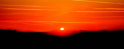 Sol Photograph - Blood Red Sunset by Az Jackson