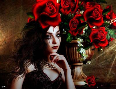Blood Roses Art Print