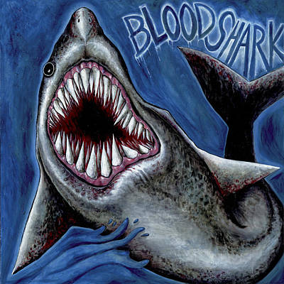 Painting - Blood Shark by Yom Tov Blumenthal