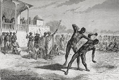 Boxer Drawing - Blood Sport In Baroda, India In The by Vintage Design Pics