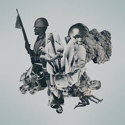 Oppression Mixed Media - Bloodfire by Joe Castro
