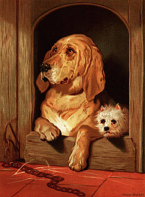 Painting - Bloodhound And A Terrier by Sir Edwin Landseer