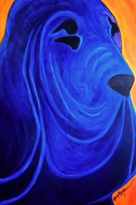 Painting - Bloodhound-  Blueblood II by Laura  Grisham