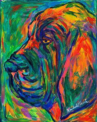 Painting - Bloodhound  by Kendall Kessler