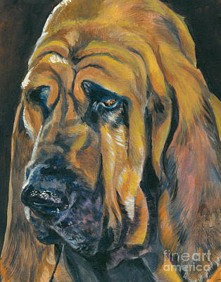 Bloodhound Painting - Bloodhound by Lee Ann Shepard