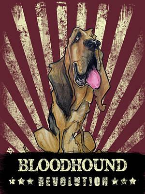 Drawing - Bloodhound Revolution by John LaFree