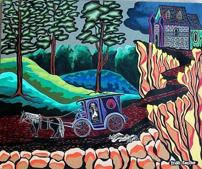 Halloween Painting - Bloodthirsty Rider by Deidre Firestone