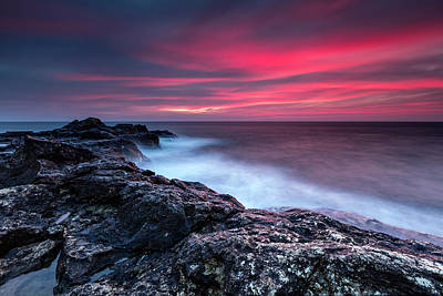 Black Sea Photograph - Bloody Dawn by Evgeni Dinev