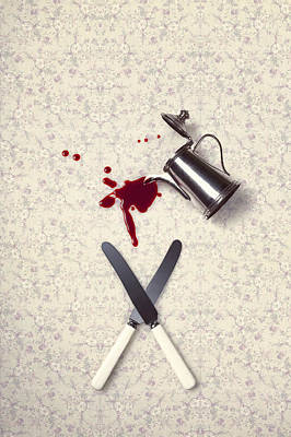 Table Cloth Photograph - Bloody Dining Table by Joana Kruse