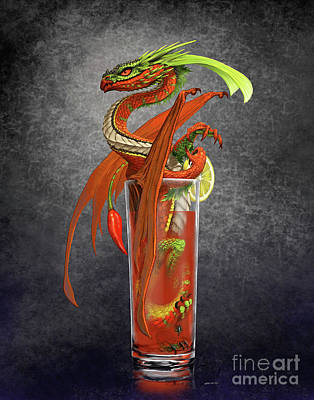 Bloody Mary Digital Art - Bloody Mary Dragon by Stanley Morrison