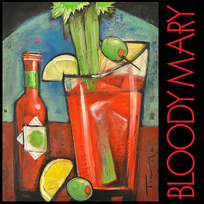 Bloody Mary Wall Art - Painting - Bloody Mary Poster by Tim Nyberg