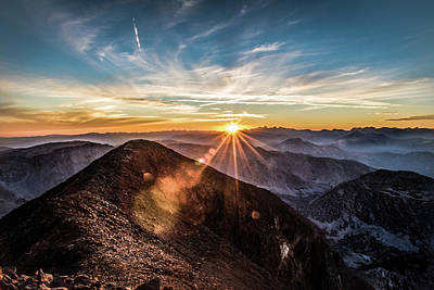 Photograph - Bloody Mountain Sunset by Jeffrey Fox