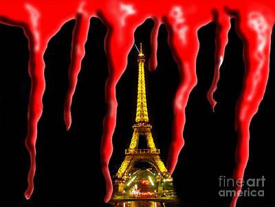 Bloody Paris - November 13, 2015 Art Print by Al Bourassa