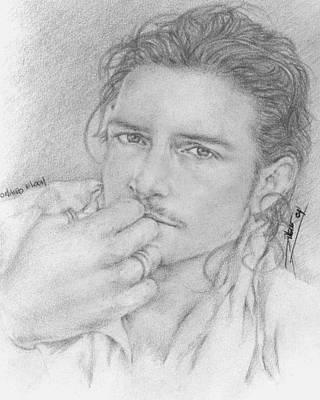 Orlando Bloom Drawing - Bloom by Mj Frasco