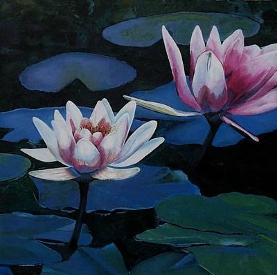 Bloom Moon Art Print by Joan Cookson
