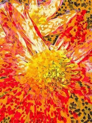 Pointillist Digital Art - Bloom by Susan Maxwell Schmidt