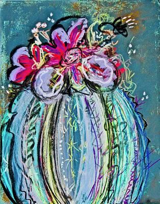 Bloomin Cactus Art Print