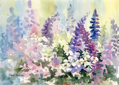Maine Landscapes Painting - Bloomin' In June by Cindy Spencer