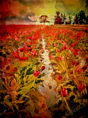 Woodburn Digital Art - Bloomin Tulips by Dale Stillman