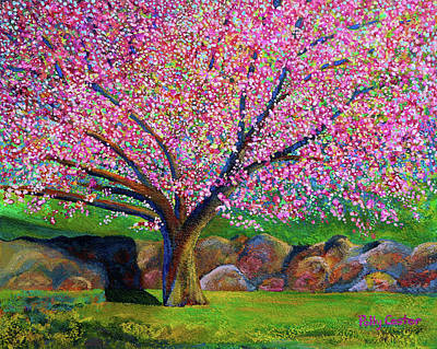 Painting - Blooming Crabapple In Evening Light by Polly Castor