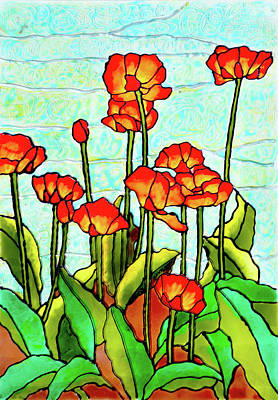 Blooming Flowers Art Print by Farah Faizal