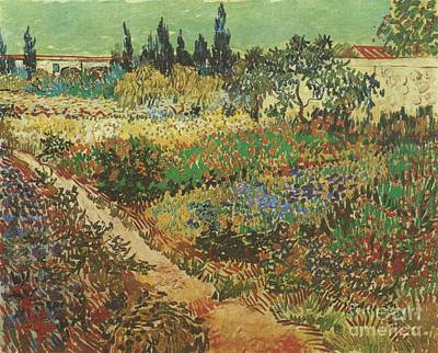 Vincent Van Gogh Painting - Blooming Garden With Footpath by Celestial Images