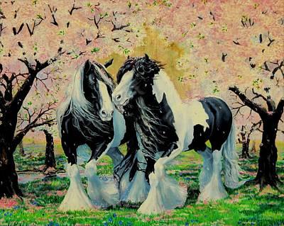 Blooming Gypsies Art Print