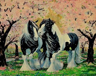 Blooming Gypsies Art Print by Ruanna Sion Shadd a'Dann'l Yoder