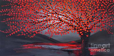 Painting - Blooming Red by Preethi Mathialagan