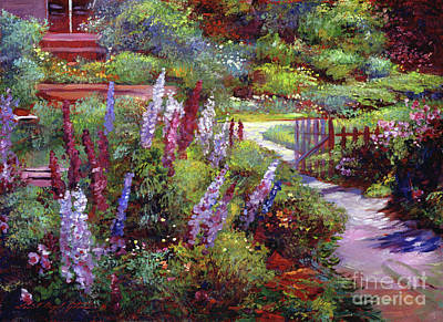 Picket Painting - Blooming Splendor by David Lloyd Glover